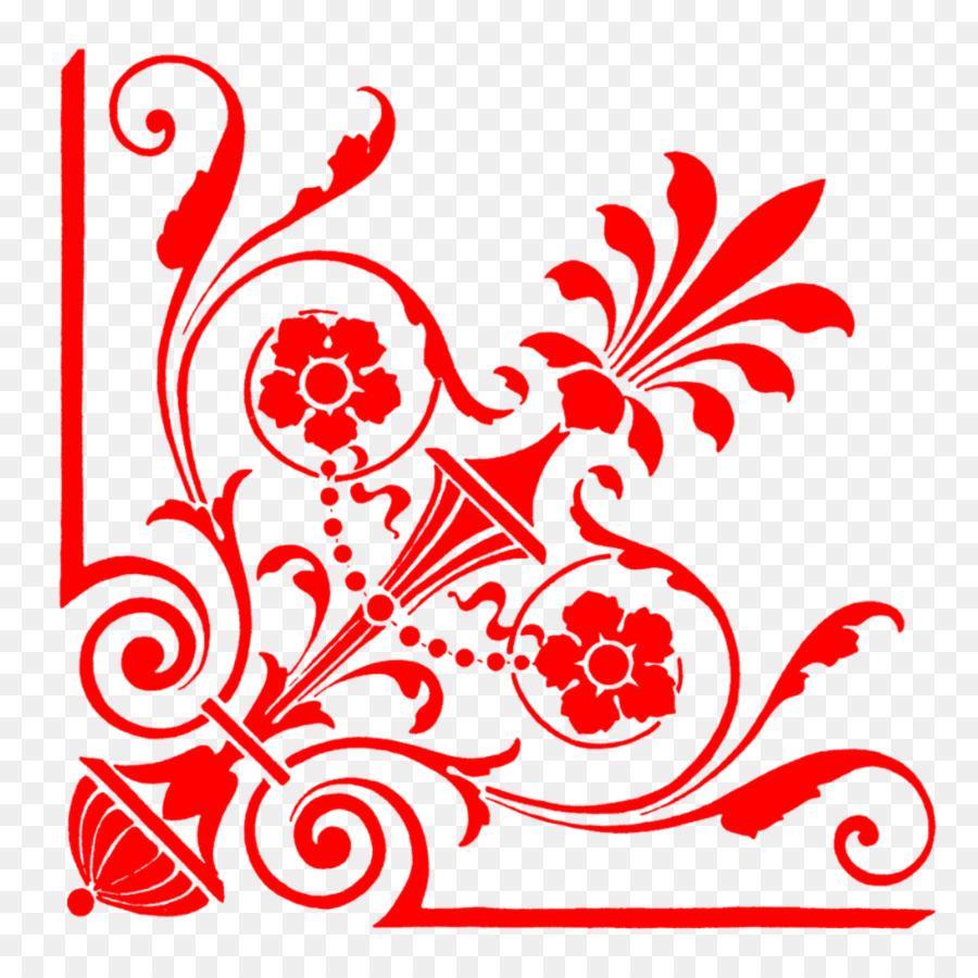 Wedding Invitation Paper Ornament Pattern Corner Png Download
