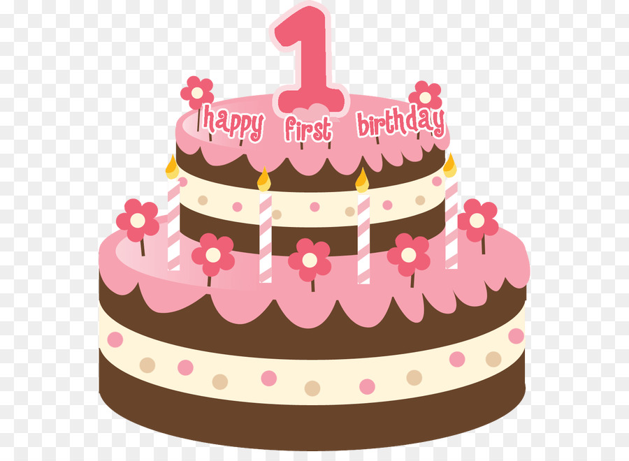 Birthday Cake Happy To You Pink PNG