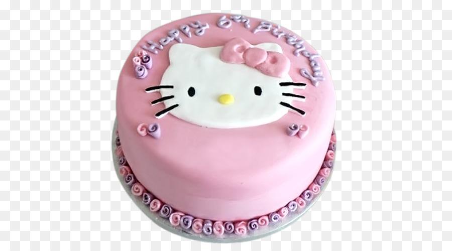 Birthday Cake Hello Kitty Torte Tart Frosting Icing Birthday