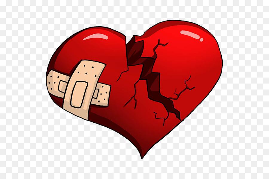 Broken Heart Love Cartoon Broken Heart Png Download 600600