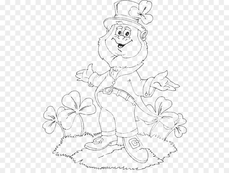 Libro para colorear Duende Trébol del Día de San Patricio - duende ...