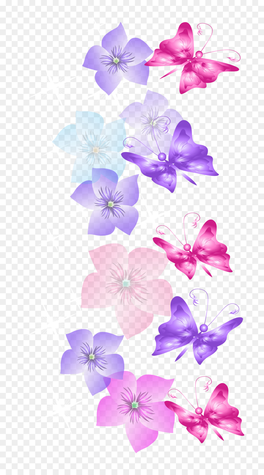 butterfly flower desktop wallpaper clip art - floral png download