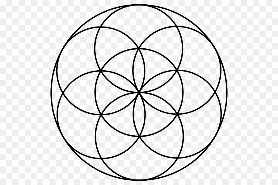 seed overlapping circles grid sacred geometry life flower circle