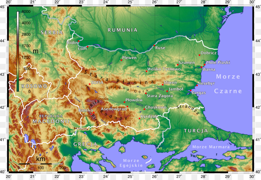 bulgaria germany topographic map world map polish