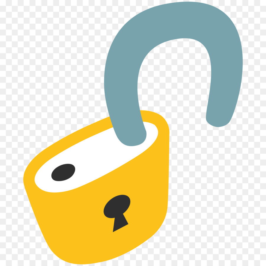 Open Lock Emoji Symbol Text Messaging Meaning Database Png