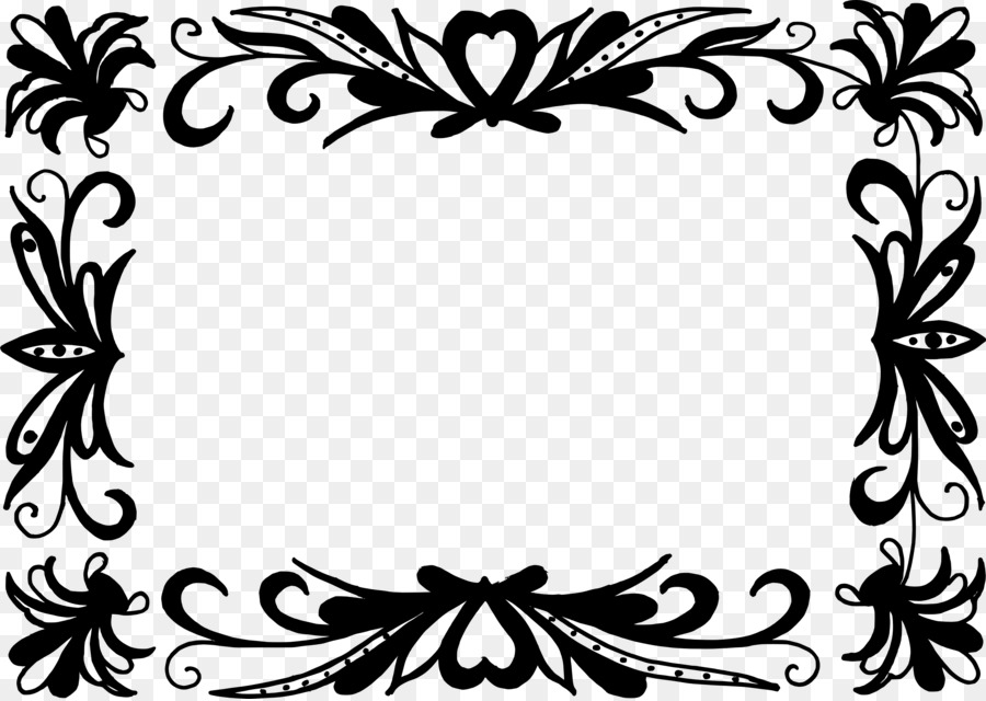 Black and white Art Baroque Picture Frames - vector border png ...