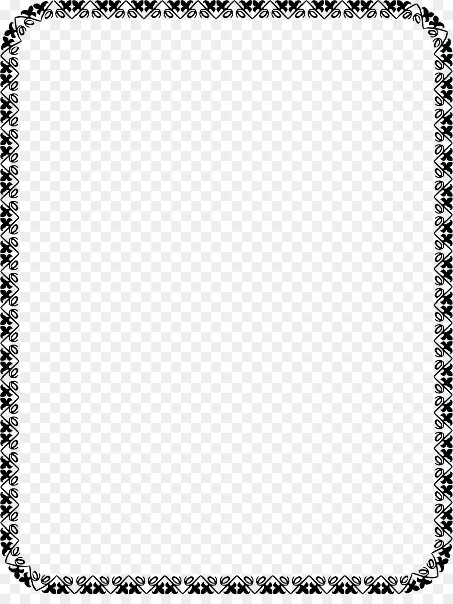 Standard Paper size Clip art - black border png download - 1747*2292 ...