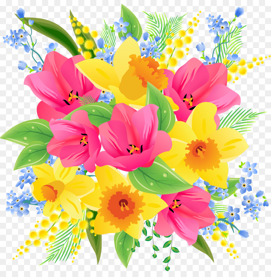 Flower Bouquet Clip Art Forget Me Not Png Download 25532600