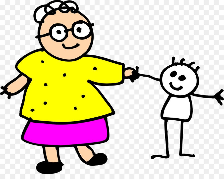 Mutter Zeichnen Linie Kunst Clipart Oma Png Herunterladen 1280