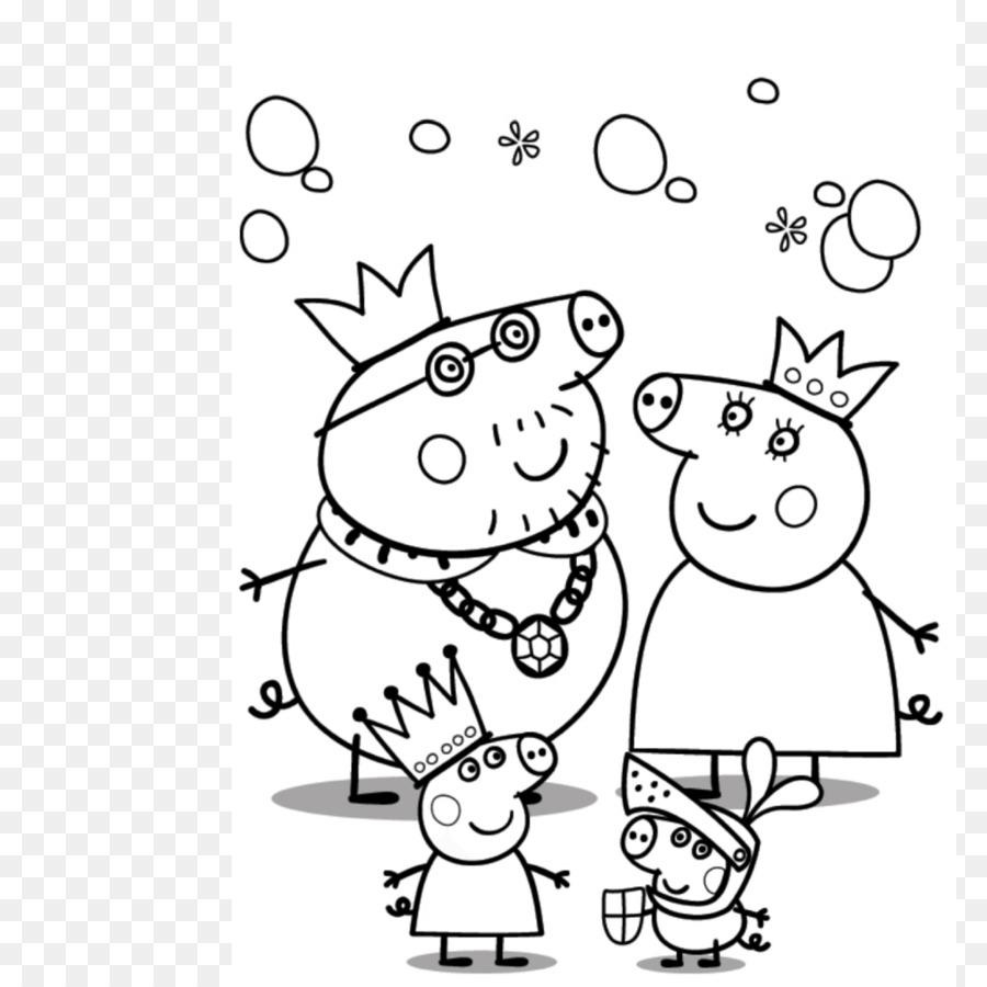 Mummy Pig Daddy Pig Abuelo Pig Peppa Pig Páginas Para Colorear ...