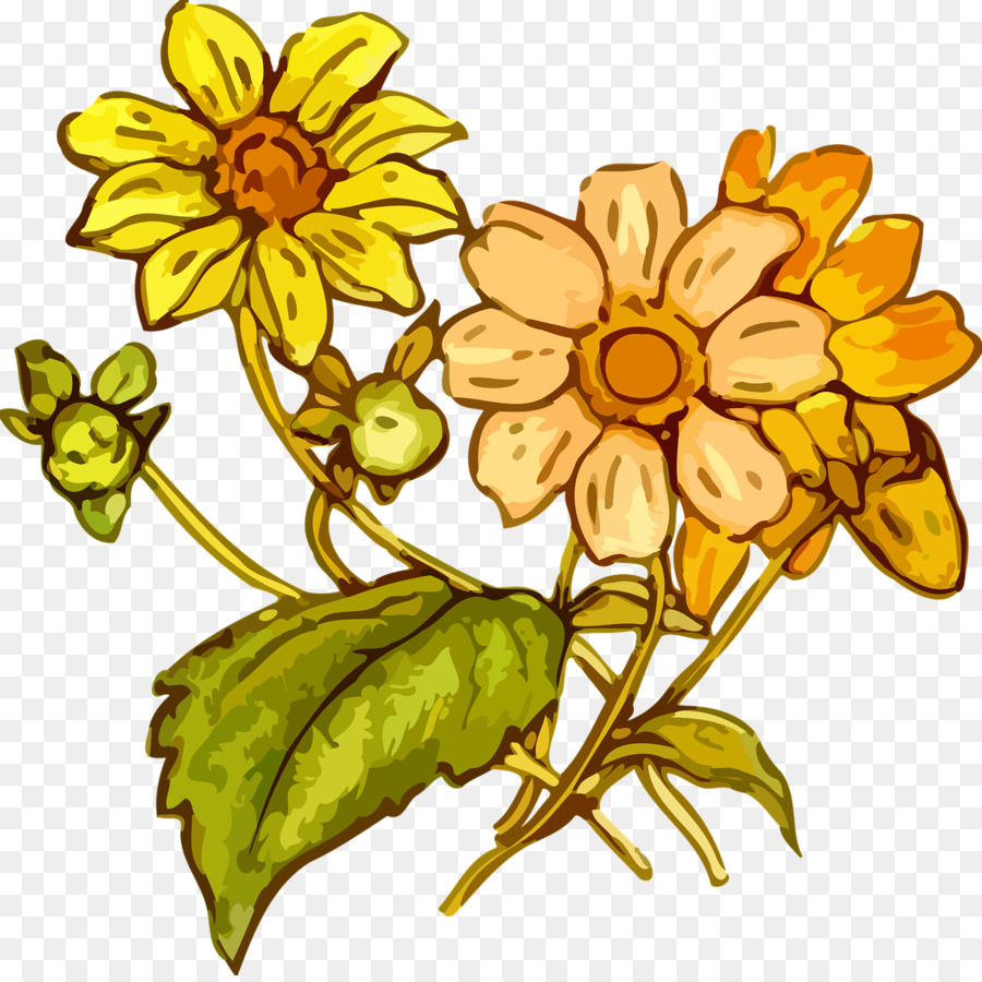 Flower Drawing Clip Art Flower Drawing Png Download 12801272