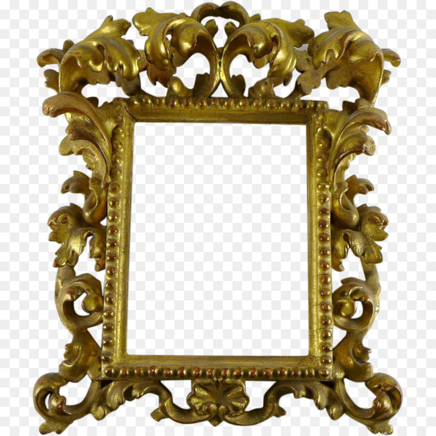 Picture Frames Mirror Rococo Wood carving Ornament - baroque png ...