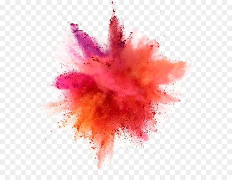 Color powder explosion png