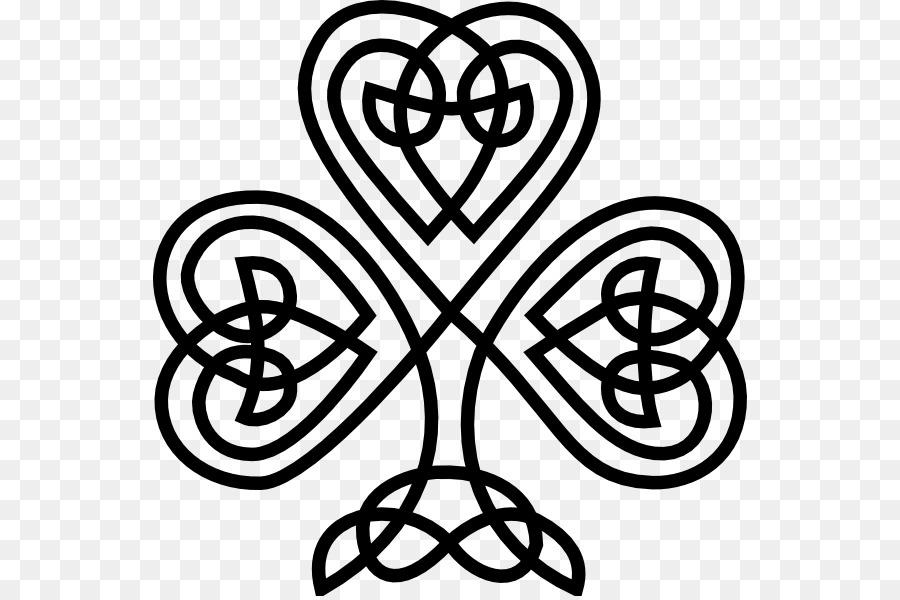 Trébol de irlanda Celtas nudo Celta Clip art - celta png dibujo ...