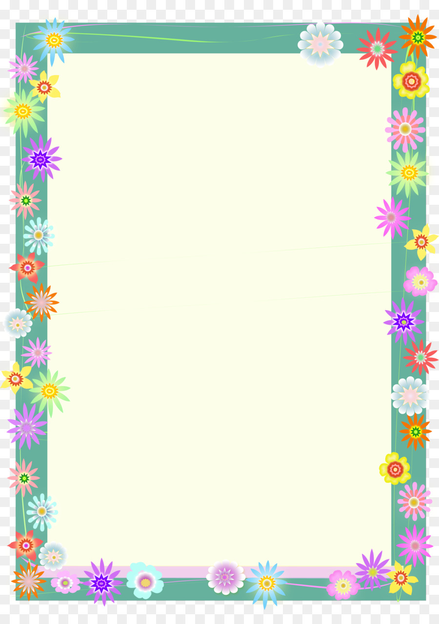 Flower Border Background Png Download 2480 3508 Free Transparent