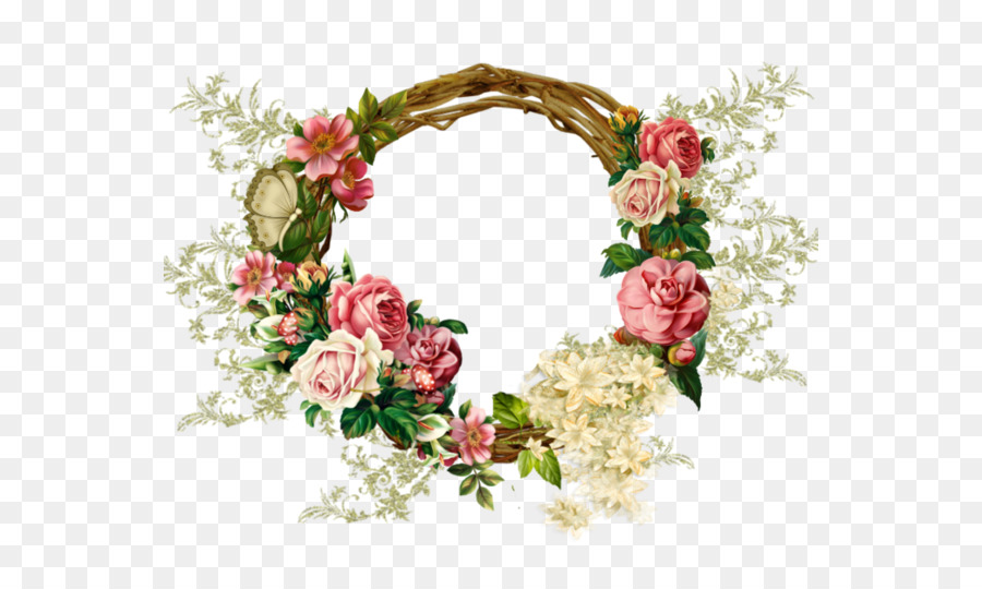 Marcos De Cuadros Cuadro - floral corona Formatos De Archivo De ...