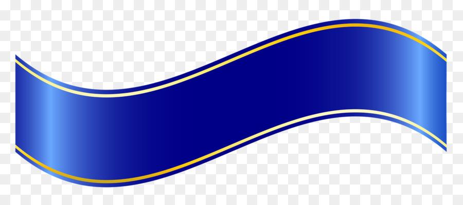 Blue ribbon Banner Clip art - web banner png download ...
