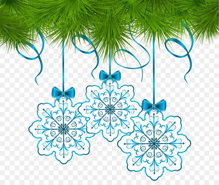 Weihnachten Schneeflocke ornament Clip art - Girlande png ...