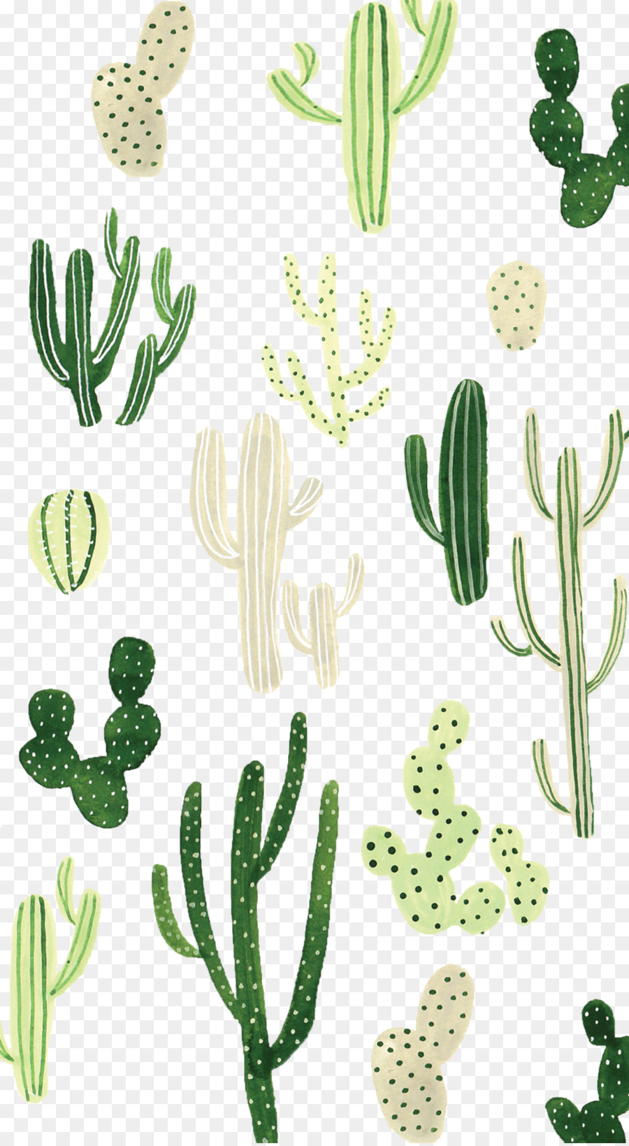 Desktop Wallpaper Cactaceae Iphone Wallpaper Watercolor Cactus Png