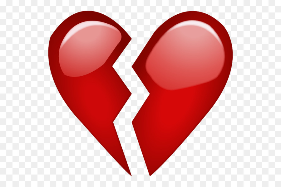 Emoji Broken Heart Emoticon Symbol Broken Heart Png Download 600