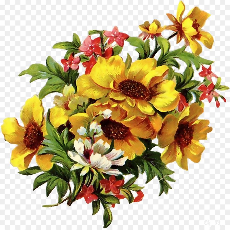 Flower bouquet Floristry Cut flowers Clip art - flower vintage png ...