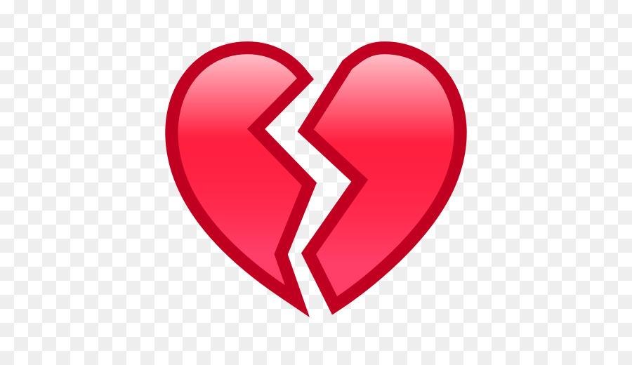 Emoji Symbol Broken Heart Sms Broken Heart Png Download 512512