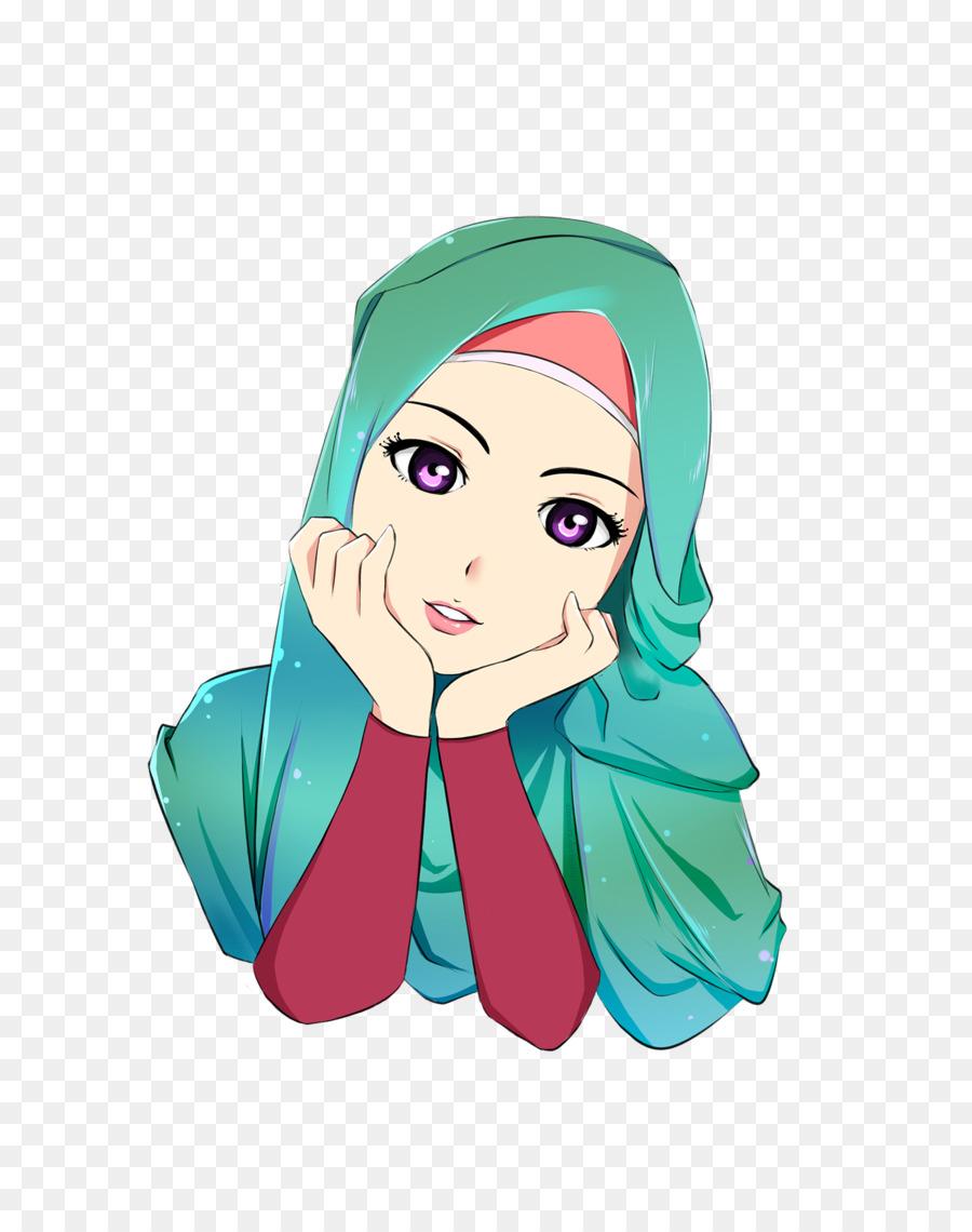 134 Wallpaper Kartun Hijab Bergerak Plazzzza