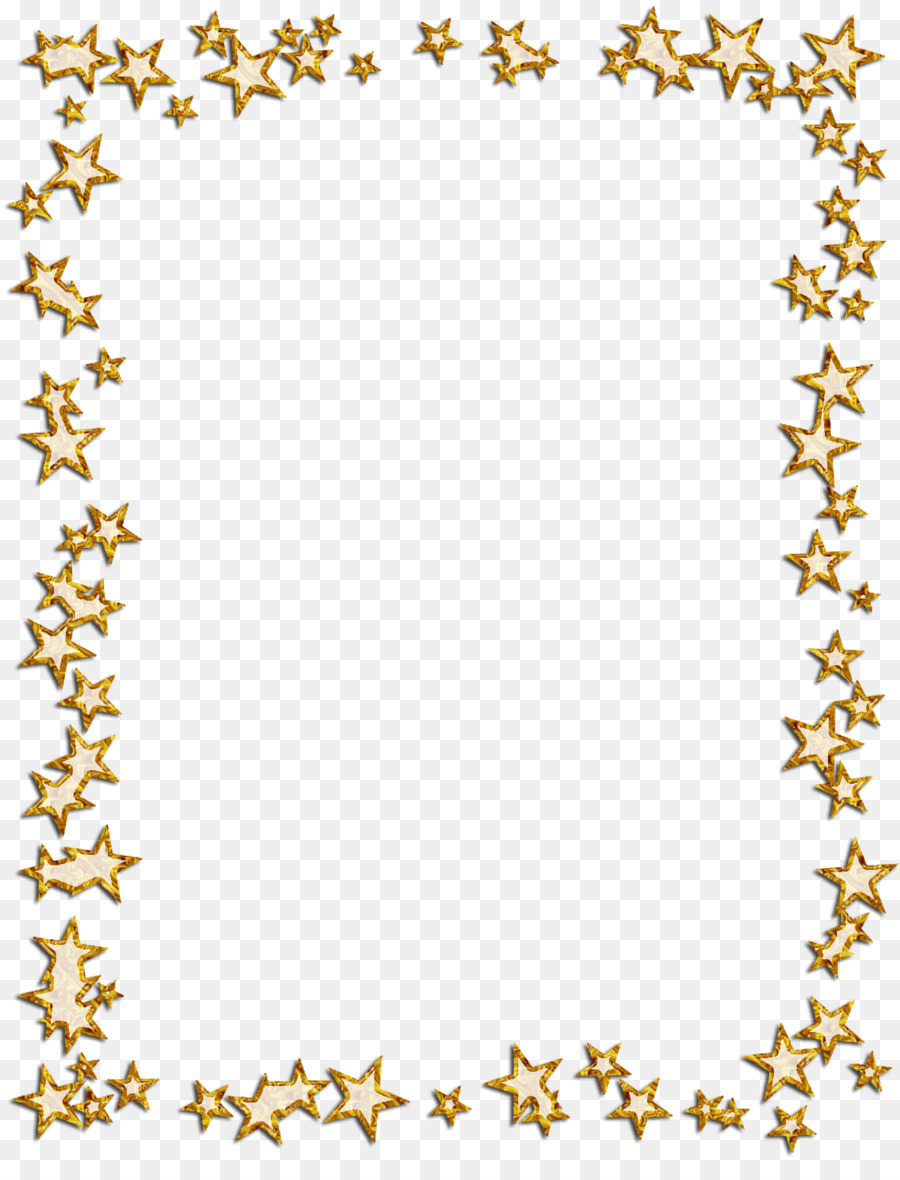 Borders and Frames Picture Frames Star Photography Clip art - gold ...