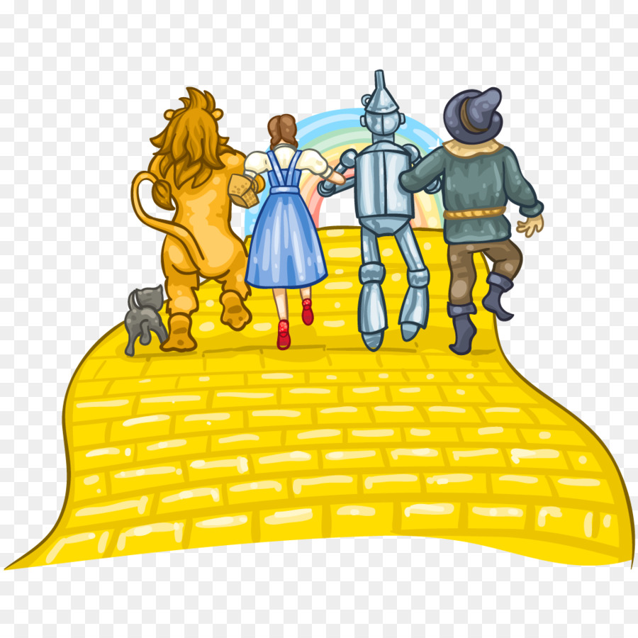 scarecrow cowardly lion tin woodman youtube yellow brick road rh kisspng com Follow the Yellow Brick Road yellow brick road clipart black and white