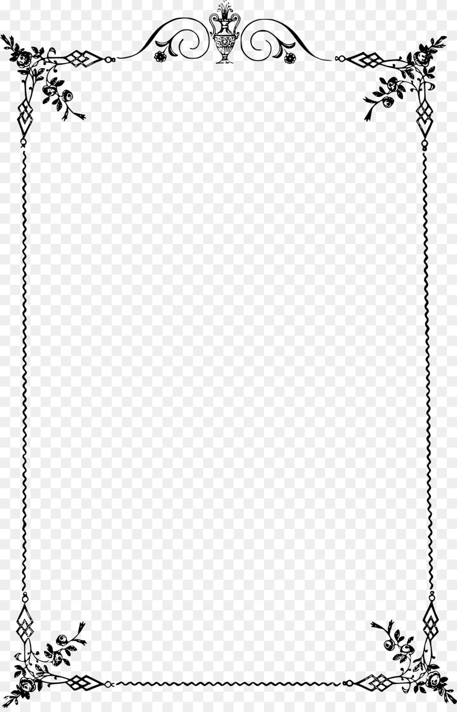 Borders and Frames Classic Clip Art Clip art - Elegant frame png ...