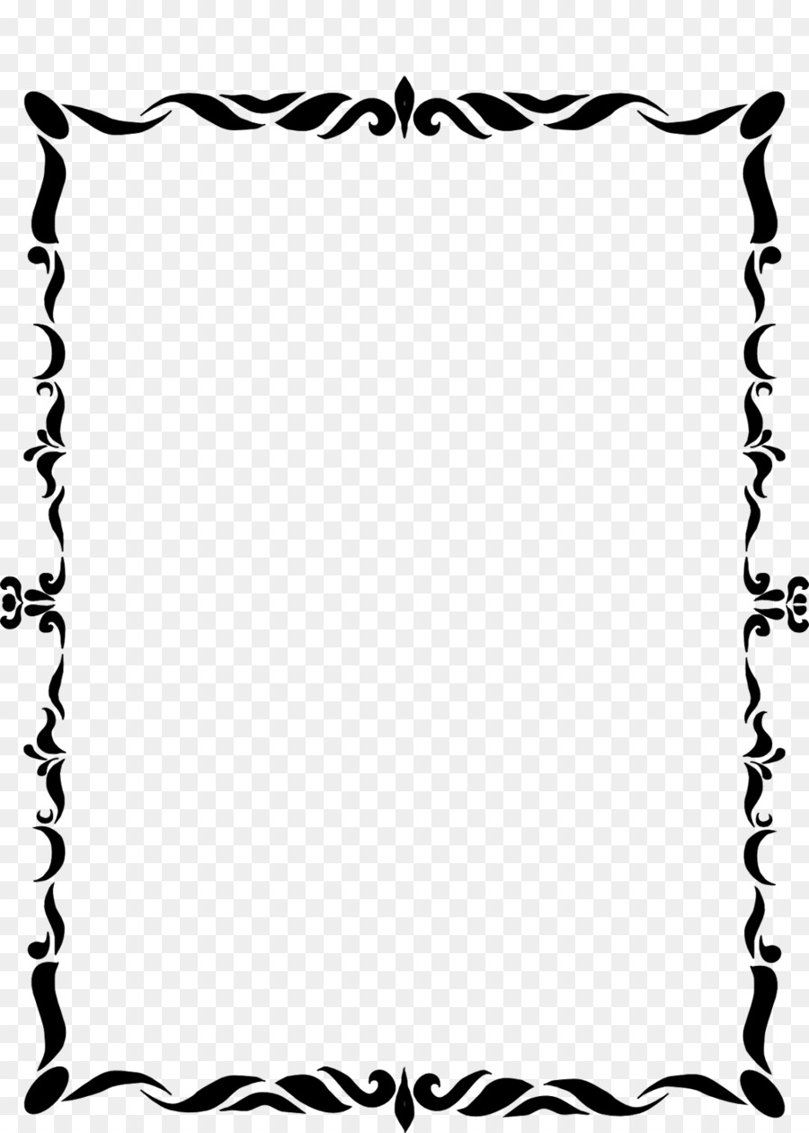 Black And White Frame png download - 1143*1600 - Free