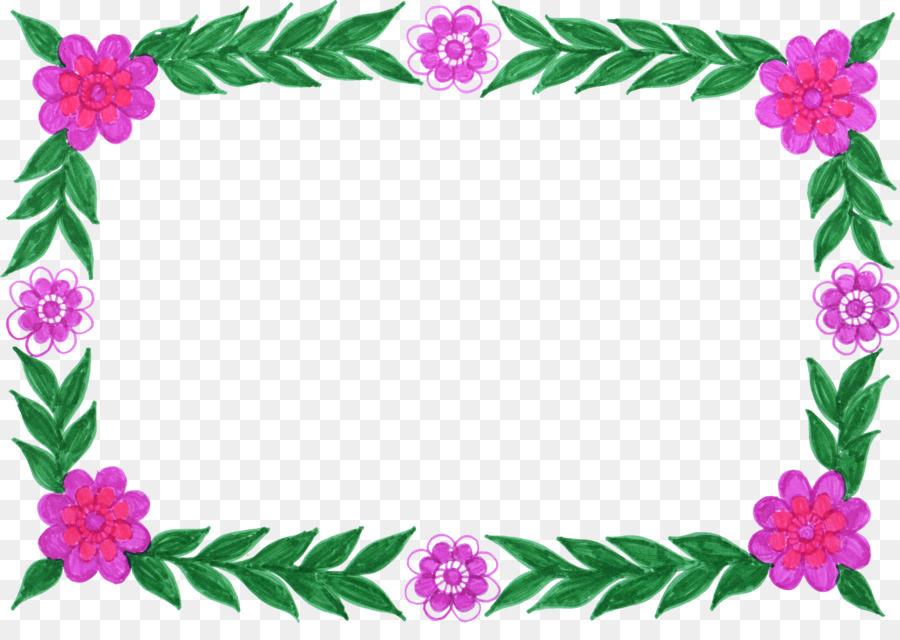 Flower Picture Frames Floral design Clip art - floral frame png ...