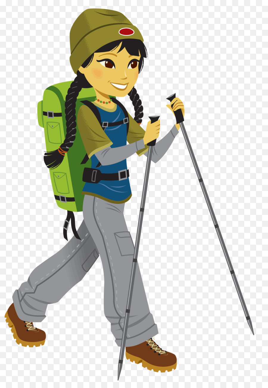 Climbing Mountaineering Clip art - hiking png download
