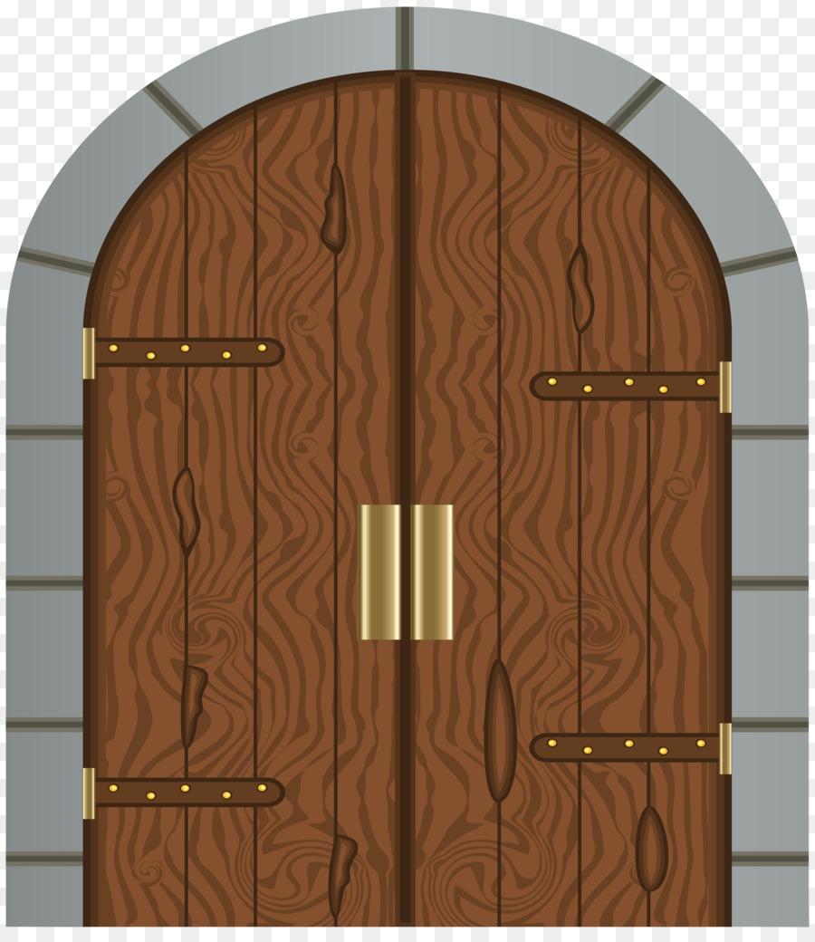 Fortified Gateway Castle Door Clip Art   Gate