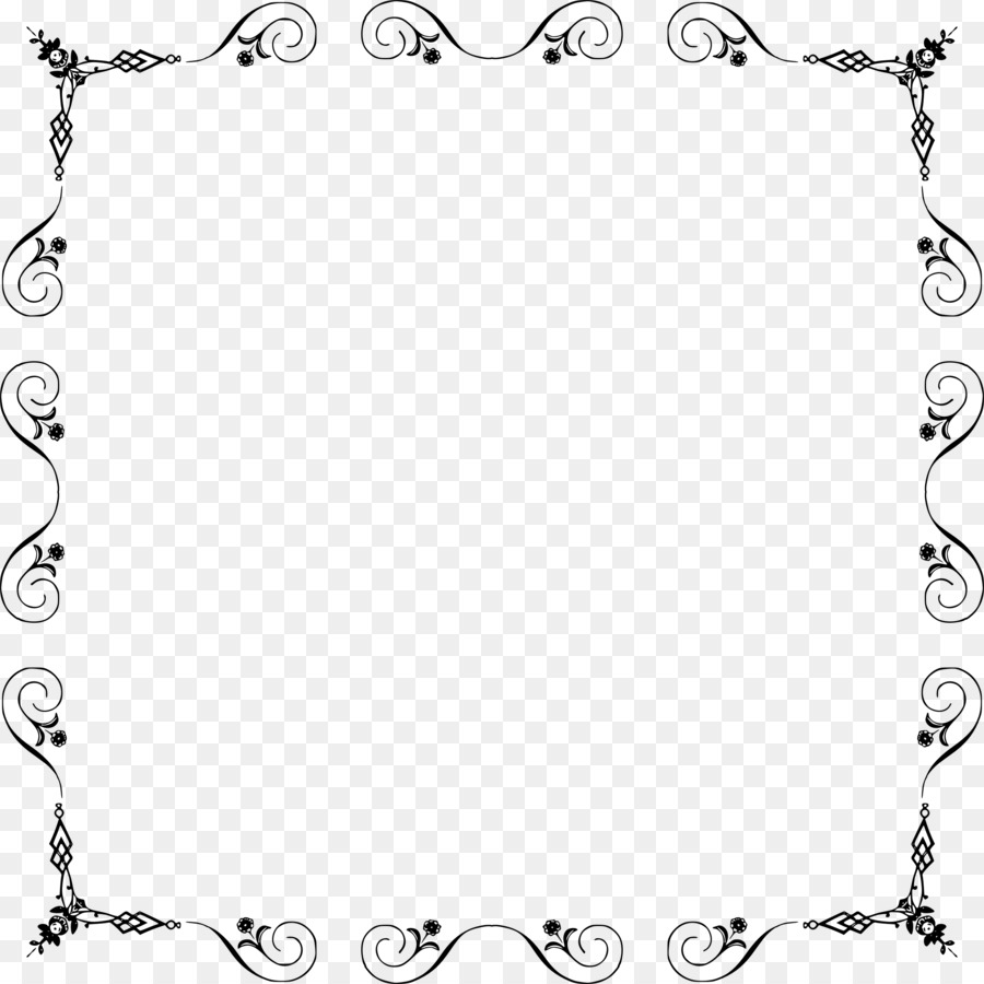 Borders and Frames Picture Frames Clip art - Elegant frame png ...