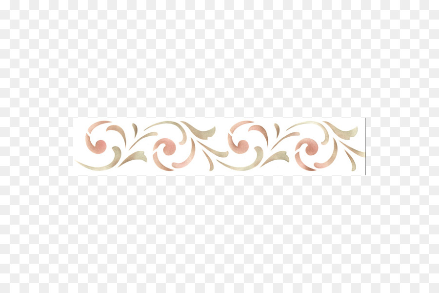Stencil Painting Wall Decal Simple Border Png Download 600600