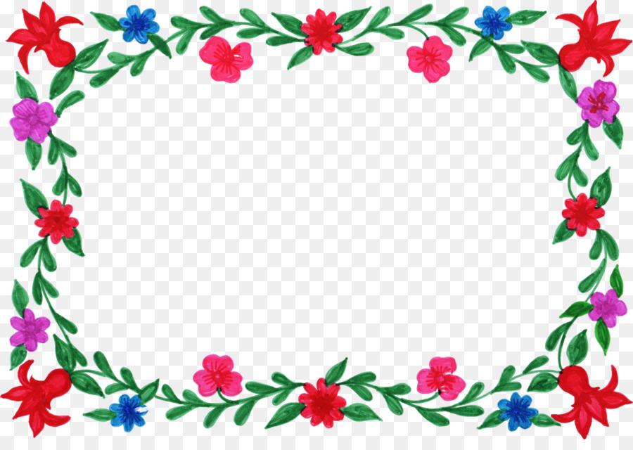 Flower Picture Frames Color Clip art - FLORAL FRAMES png download ...