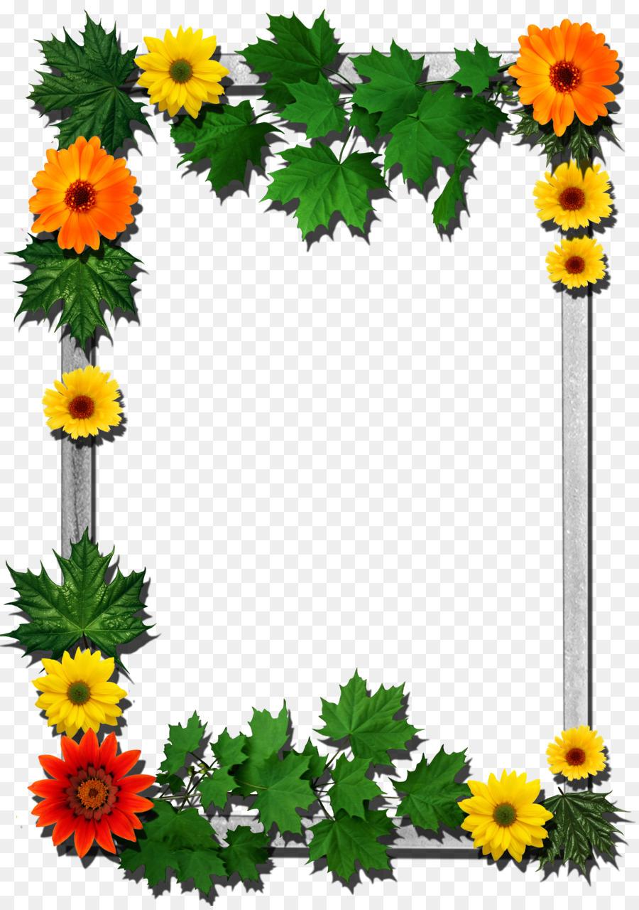 Picture Frames Flower - flower frame png download - 2480*3510 - Free ...