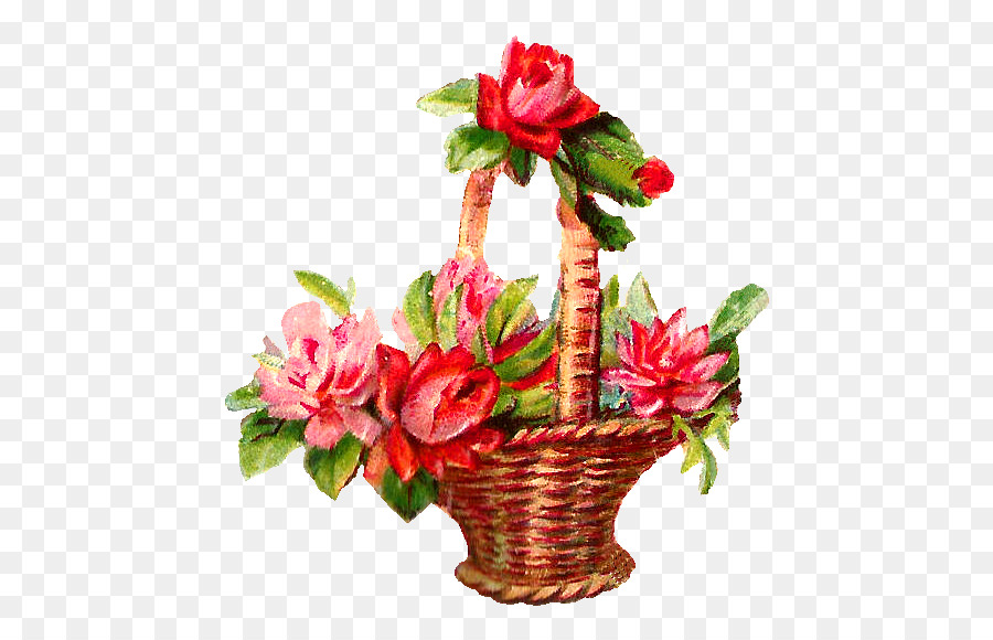 Flower basket pink rose clip art red flower png download 567570 flower basket pink rose clip art red flower mightylinksfo
