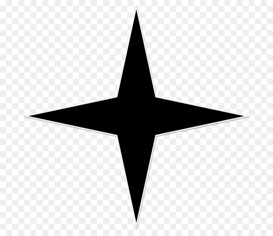 Triangle Star Symbol Symmetry Black Star Png Download 775768