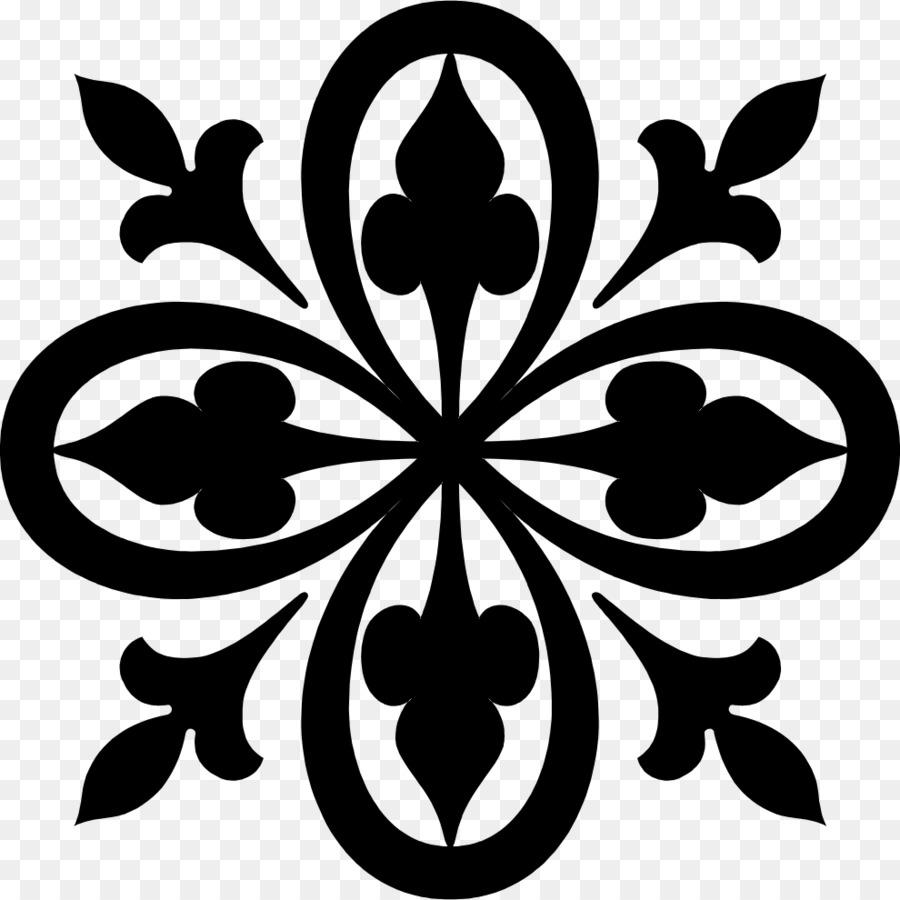 Stencil Wall decal Arabesque Pattern - Motifs png download - 990*990 ...