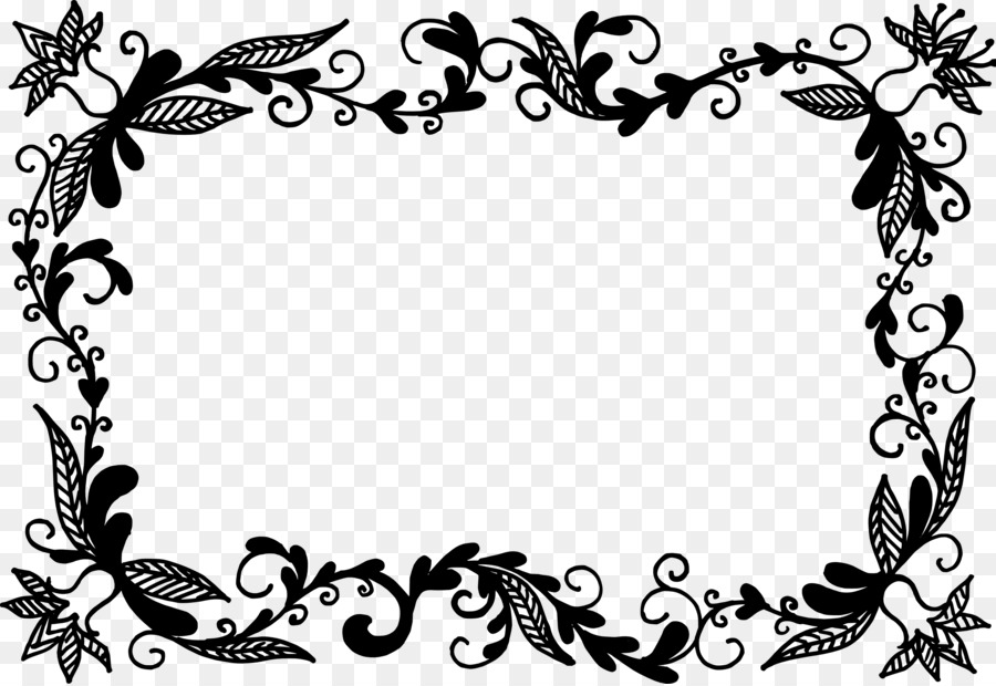 Picture Frames Flower - vector border png download - 3432*2357 ...