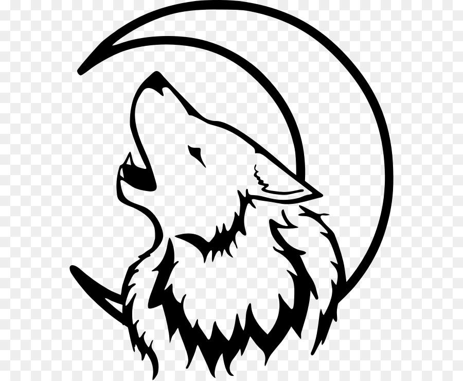 Silueta Lobo: Silueta Cara Lobo Luna