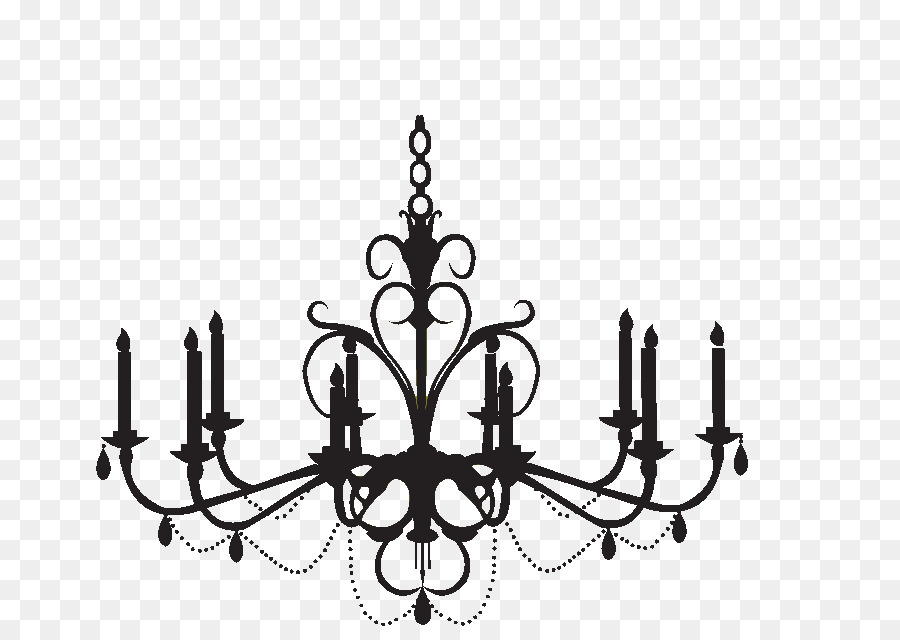 Chandelier Wall Decal Silhouette Clip Art