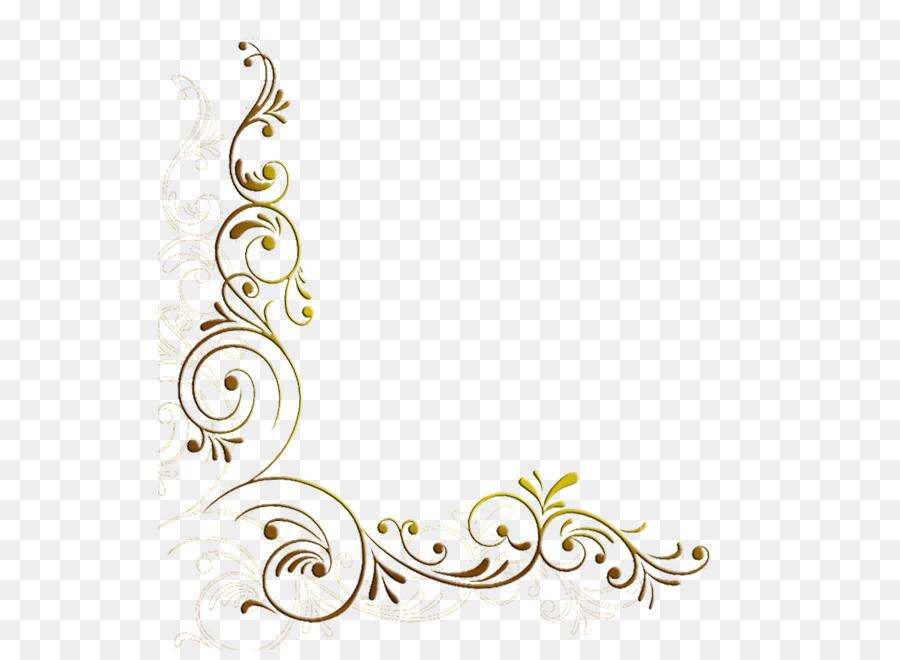 White Decorative Line Png