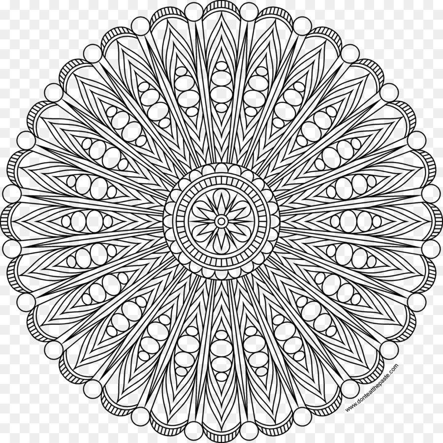 Mandala Boyama Kitabı Renkli Kalem Yetişkin 199 Izim