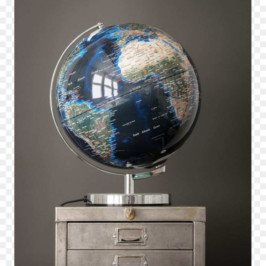globe world city lights lamp map night lights