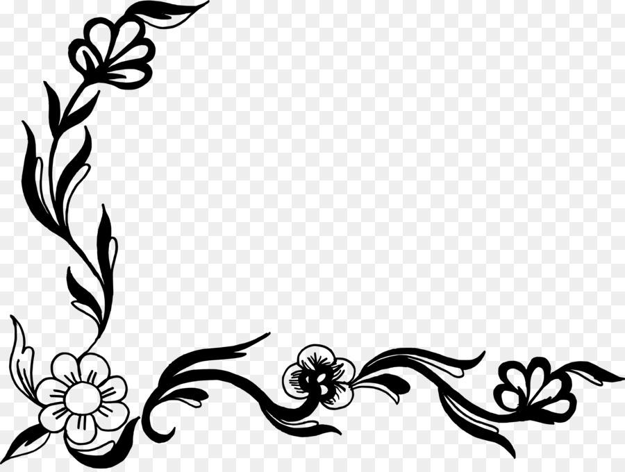 Flower Floral Design Clip Art Floral Corner Png Download 3075