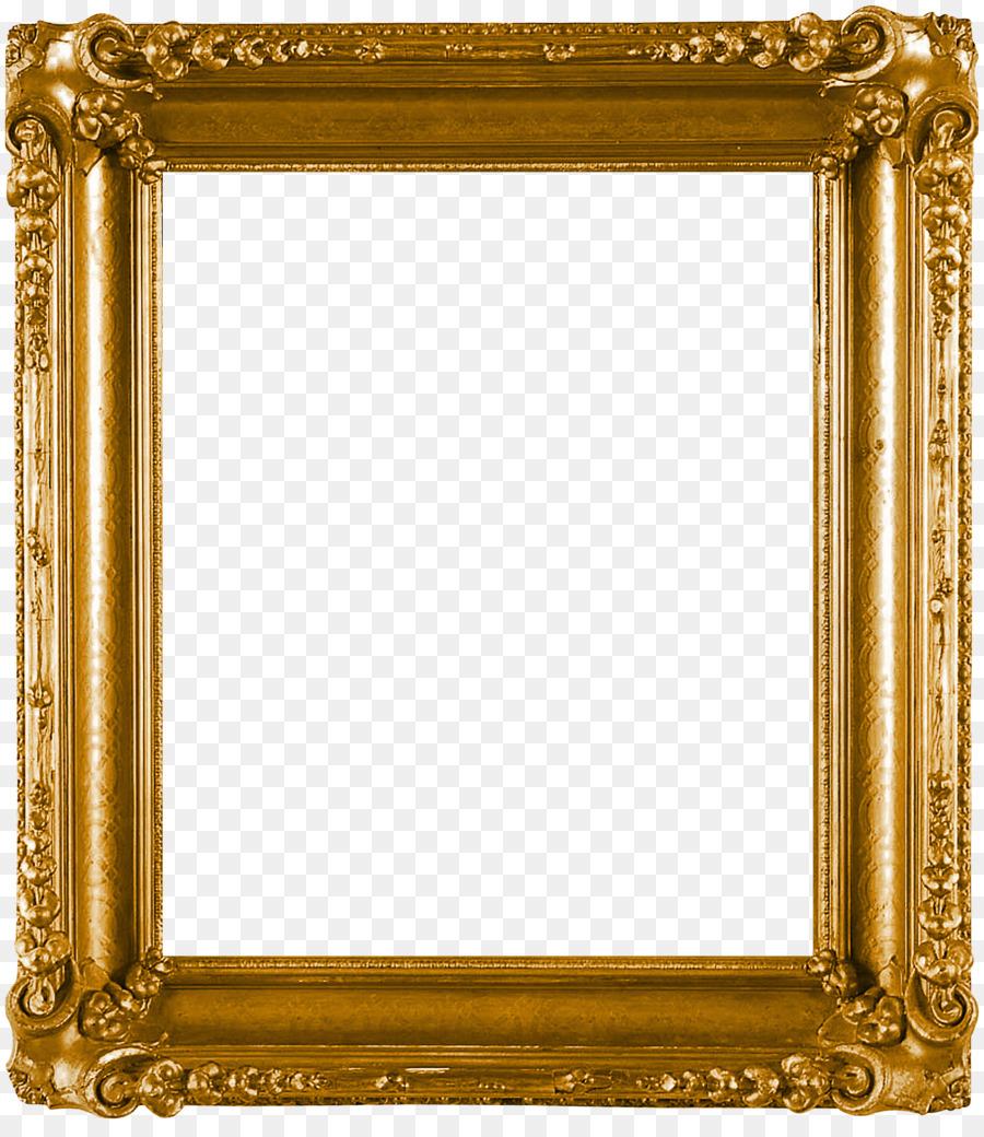 Picture Frames Clip Art Golden Frame Png Download 1894