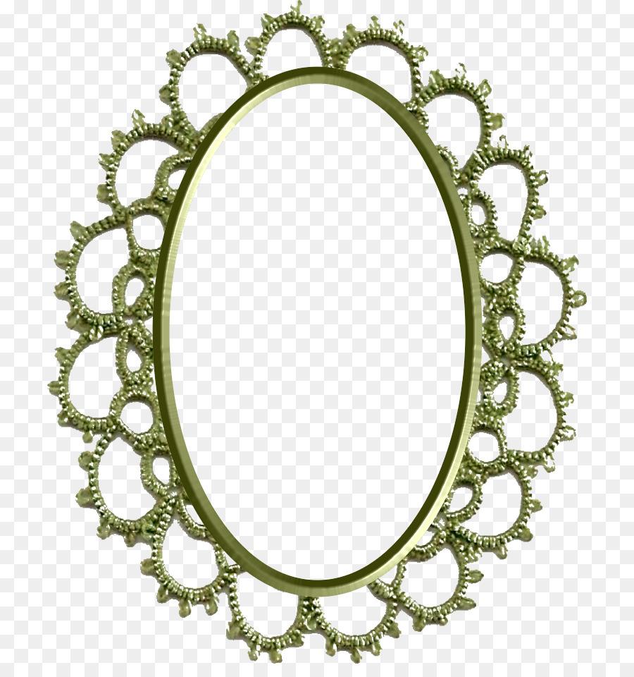 Círculo De Imagen De Marcos De Cuerpo Oval De La Joyería Espejo ...